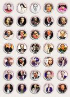Musician Andrew Lloyd Webber Fan ART BADGE BUTTON PIN SET 1 (1inch/25mm Diameter) 35 X - Music