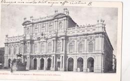 TORINO PALAZZO CARIGNANO E MONUMENTO A CARLO ALBERTO VG AUTENTICA 100% - Palazzo Carignano