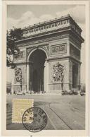 Carte-Maximum FRANCE N° Yvert 623 (ARC DE TRIOMPHE) Obl Sp 30.3.45 (Ed Braun) - Maximum Cards