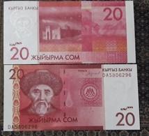 Kyrgyzstan 20 Som 2016. Press, Series DA - Kirghizistan
