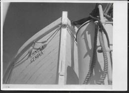 PRUA BARCA ICHNUSA GENOVA - FORMATO 14,50X10,50 - ORIGINALE D'EPOCA FINE ANNI '40 - Barche