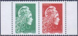 France N° 5252_P ** Paire Mixte Du Carnet Marianne L'Engagée - Lettre Verte + Prioritaire - France