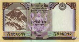 Nepal 10 Rupee (P70) 2012 -UNC- - Népal