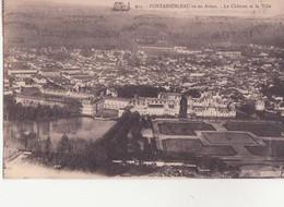 CPA -  914. Fontainebleau Vu En Avion, Le Château Et La Ville - Fontainebleau