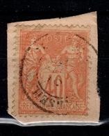 Sage Type II - YV 94 Oblitere Sur Fragment - 1876-1898 Sage (Tipo II)