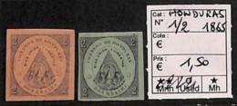 [814676]Honduras 1865 - N° 1/2 - Honduras