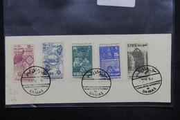 SYRIE - Oblitération De La Foire De Damas En 1956 Sur Timbres De La Série Sur Document - L 23962 - Syrie