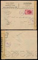 SYRIA. 1942 (22 May). Damas - Beyrouth / Lebanon. Fkd Env / Doble Censored. - Syrie