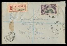 BC - Trinidad. 1946. San Fernando - Port Spain. Local Registr Fkd 12c Ship Env. - Unclassified