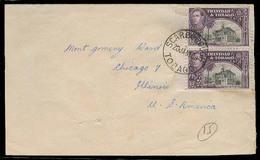 BC - Trinidad. 1950. Scarborough - USA. Env Fkd 12c X2 Border + Cds. - Unclassified