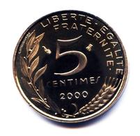 5 Centimes Marianne Col à  3 Plis 2000 Issue D'un Coffret Belle Epreuve - France