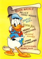 WALT DISNEY DONALD Carte éditée En 1962 Mondialcolor édition Italienne   1 (scan Recto Verso)MA212BIS - Autres