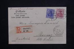ALLEMAGNE - Carte Postale De Correspondance En Recommandé De Elberfeld Pour Marnaz ( France ) En 1906 - L 23965 - Covers & Documents