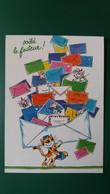 CPM VOILA LE FACTEUR CHAT LETTRES ILLUSTRATRICE MICHELINE LE BERRE ED CARTES D ART 2003 FLAMME TIMBRE - Autres Illustrateurs