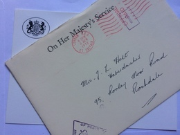GB - 1972 Entire - OHMS - Ministry Of Posts Envelope, Headed Card And Cachet - 1952-.... (Elizabeth II)