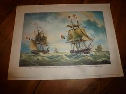 Trois Mâts HARMONIE,Sloop POISSON VOLANT,Brick JULIE, Etc (Portrait Navires  ,dim. Hors-tout = 48 X 36cm - Maritime Decoration