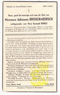 DP Adrienne Brouckmeersch ° Eernegem Ichtegem 1905 † Brugge 1945 X Gustaaf DeReu - Images Religieuses