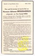 DP Adrienne Brouckmeersch ° Eernegem Ichtegem 1905 † Brugge 1945 X Gustaaf DeReu - Devotion Images