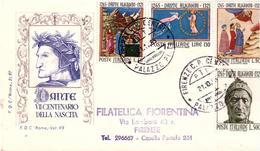 Fdc Roma: DANTE 1965;raccomandata; AF_Firenze - F.D.C.