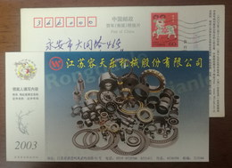 Series Gears And Bearings,China 2003 Rongtianle Machinery Joint Stock Company Advertising Pre-stamped Card - Factories & Industries