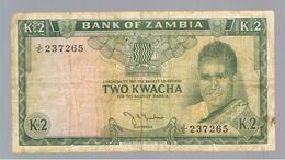 ZAMBIA»2 KWACHA»1969 ND ISSUE» PICK-11(A)»FINE CONDITION»CIRCULATED - Zambie