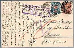 Russia, 1917, For Vevey, Taxe - 1917-1923 Republic & Soviet Republic