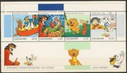 Denmark 2002. Danish Comics And Cartoon Movies. Souvenir Sheet.  Michel  Bl.18  MNH. - Blocs-feuillets