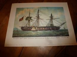 PRESERPINE,frégate Anglaise De 44 Canons,prise Par La Frégate Française PENELOPE  (Portrait Navire  ,dim. = 48 X 36cm - Décoration Maritime