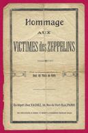 Partition Musicale - Hommage Aux Victimes Des Zeppelins - Partitions Musicales Anciennes