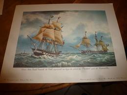 Trois Mâts SAINT VINCENT DE PAUL Au Large Du Phare Planier, Près MARSEILLE (Portrait Navire  ,dim. Hors-tout = 48 X 36cm - Maritieme Decoratie