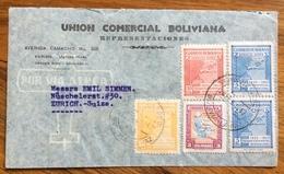 POSTA AEREA  PAR AVION  BOLIVIA  SUISSE SVIZZERA  FROM LAPAZ   TO ZURIGO ZURICH   THE  1945 - Bolivia