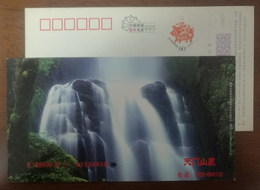 Tianmen Mountain Waterfall,China 2007 Xiangtan Eco-recreational Water Capital Advertising Pre-stamped Card - Other