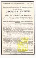 DP Georges Ameele / Rogier * 22j. * ° Bekegem Ichtegem 1923 † 1946 - Images Religieuses