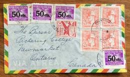 POSTA AEREA  PAR AVION  BOLIVIA  CANADA  FROM  LA PAZ    TO  ONTARIO   THE  1952 - Bolivia