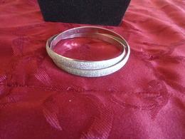 Bracelet Double  En Métal Recouvert De Strass - Bracelets