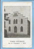 """Nice (06) Temple Antoiniste Rue De L'Assomption 2 Scans 06-11-1931 (théosophie - """"guérisseur"""") Carte Signée - Monuments, édifices"""