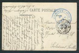 FRANCE 1916 CPA  Illustrée Hopital Complémentaire Saumur - Postmark Collection (Covers)