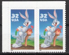 USA 1997 Cartoon Character Bugs Bunny,  Mi 2829 BA X 2 MNH(**) - Ungebraucht