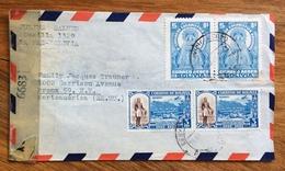 RELIGIONE POSTA AEREA  PAR AVION  BOLIVIA  STATI UNITI U.S.A.  FROM LA PAZ  TO NEW YORK  THE  1944 - Bolivia