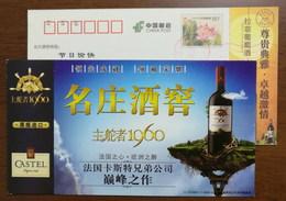 Gouverneur 1960 AOC Boreaux Superieur Cuvee Classique,CN 11 Original Bottle Import Castel Wine Advert Pre-stamped Card - Wines & Alcohols