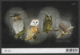 Thailand (2013) - Block  -  /  Aves - Birds - Oiseaux - Vogel - Owl - Eulen - Buhos - Eulenvögel