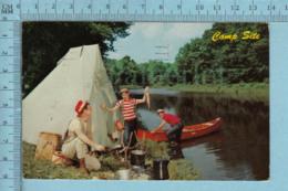 Rouyn-Noranda  Quebec -Souvenir, Peche, Canot..- Servie En 1961 - Carte Postale Post Card - Quebec