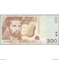 TWN - ALBANIA 67 - 200 Leke 2001 Prefix TH UNC - Albania