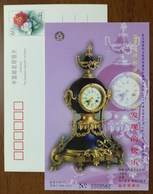 19th Century,Copper Gilded Clock From France,CN 99 The Palace Museum UNESCO International Museum Day Pre-stamped Card - Clocks