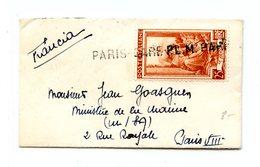 Italie, Petite Lettre Pour La France - Griffe PARIS-GARE P.L.M. - (W1216) - Other