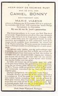 DP Camiel Bonny ° Bekegem Ichtegem 1874 † 1939 X Marie Viaene - Images Religieuses