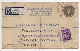 Jersey--Lettre Recommandée De Jersey Pour Poitiers (France) - Jersey