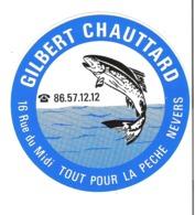 Autocollant Gilbert Chauttard 16 Rue Du Midi NEVERS  Tout Pour La Pêche - Autocollants