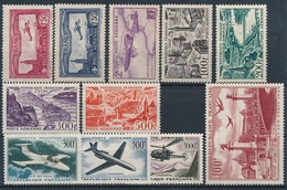 CM-176: FRANCE: Lot PA*   Avec N° 5/7-24/27-28-35/37 - 1927-1959 Mint/hinged