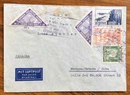 POSTA AEREA  PAR AVION VIA PANAGRA  BOLIVIA CUBA  FROM LA PAZ TO HAVANA   THE 29/11/1939 - Bolivia